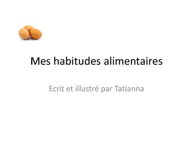 Le livre de Tatianna