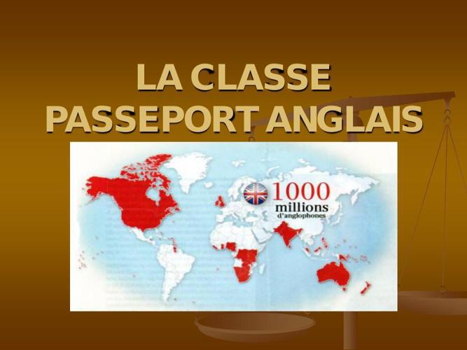 Passeport Anglais