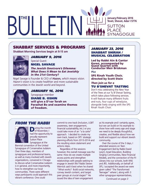 JAN-FEB 2016  Bulletin