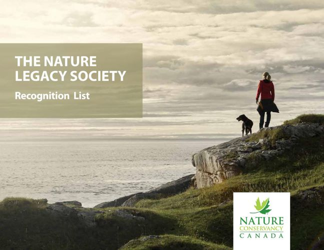 Nature Legacy Society Recognition List 2015