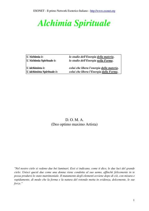 Glossario Alchemico