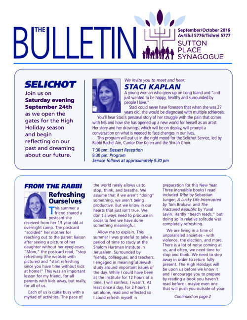 September/October 2016 Bulletin
