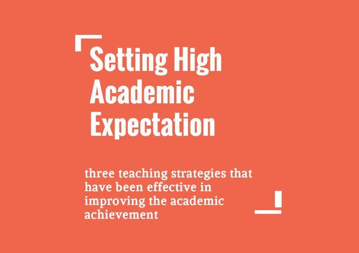 Setting High Academic Expectation