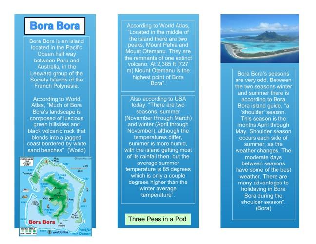 Bora Bora Brochure