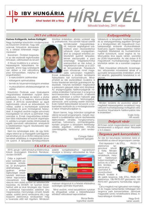 IBV Hírlevél - 2015.május