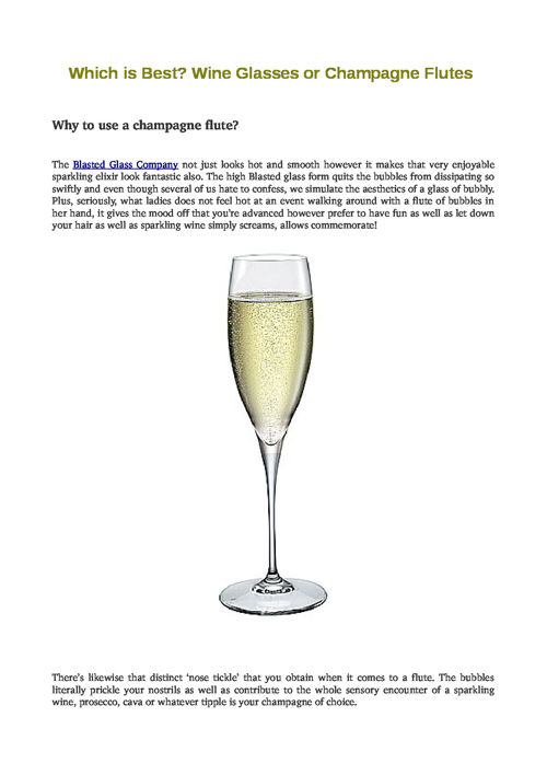 Which is Best? Wine Glasses or Champagne Flutes