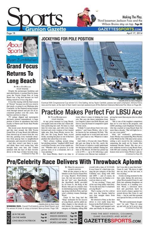 Gazettes Sports 4-17-14