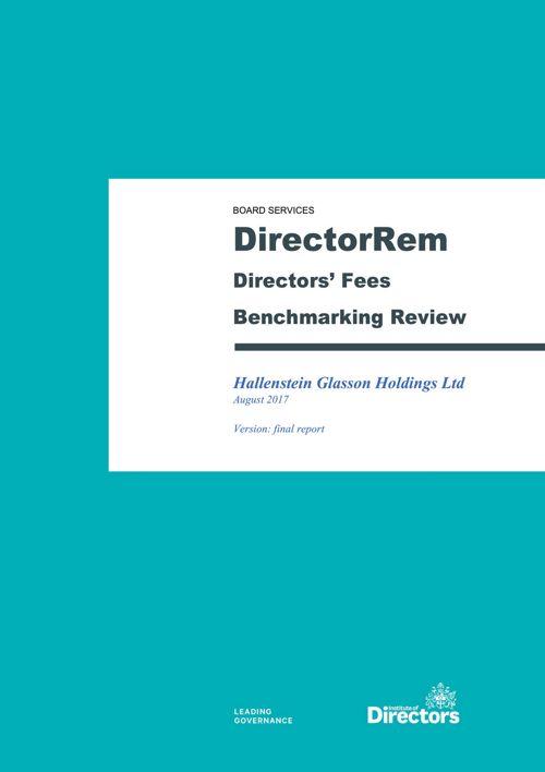 Directors Fee Review Report 2017