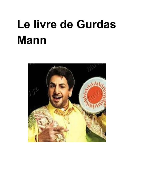 French Book Of Gurdas Mann