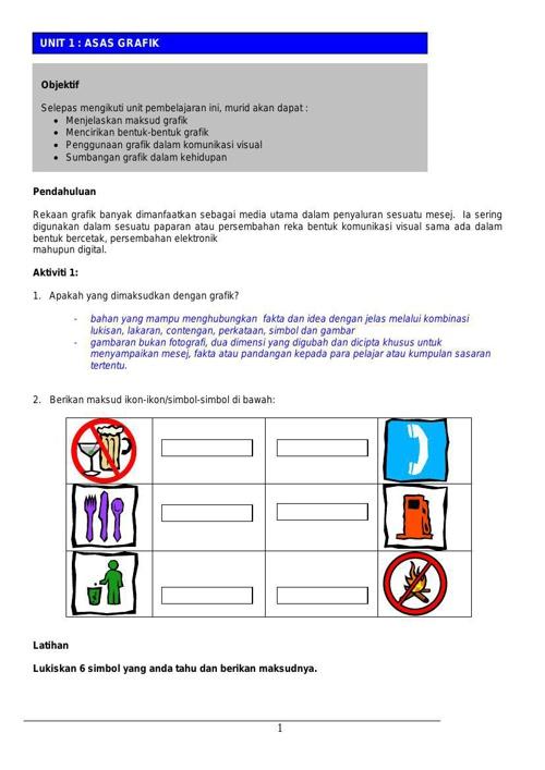 Modul Pembelajaran Asas Grafik