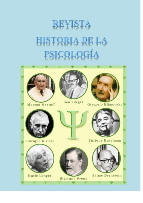 Copy of Revista historia de  la  psicologia