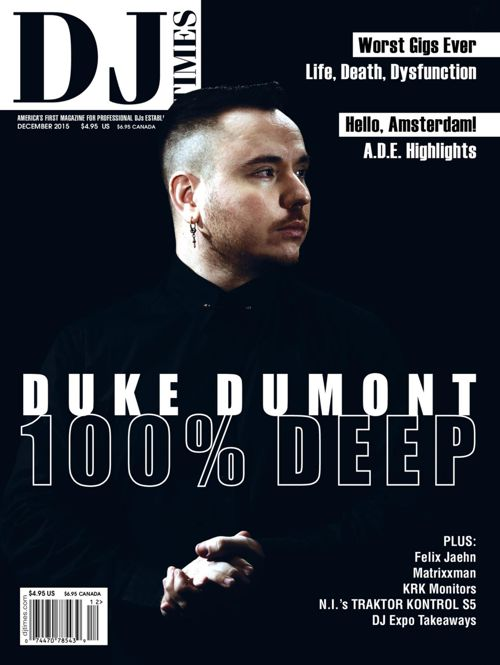 Duke Dumont DJ Times Magazine December 2015 Cover