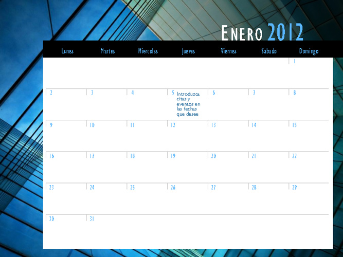 mi calendario 2012