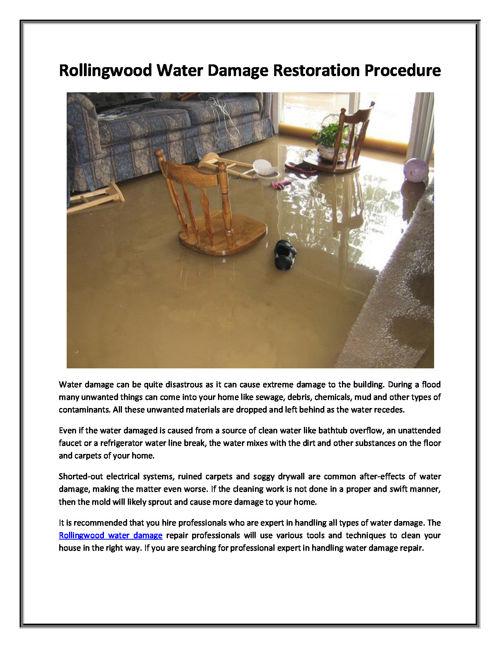 Stafford Water Damage