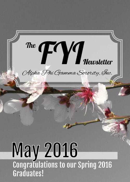 The F.Y.I. Newsletter - May 2016