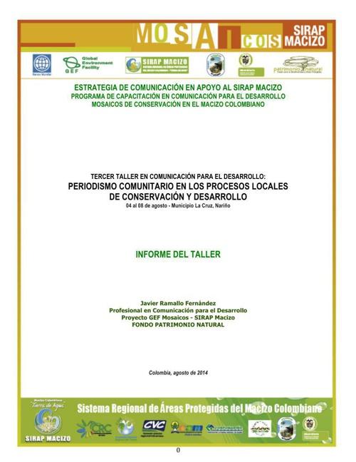 Memoria Taller CpD 03 - Periodismo