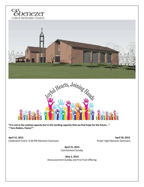 Ebenezer United Methodist Church Detailed Brochure