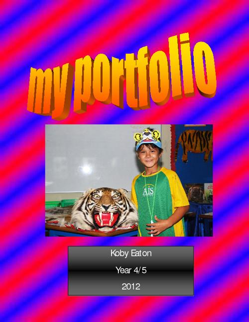 My Portfolio. Koby. Year 4.