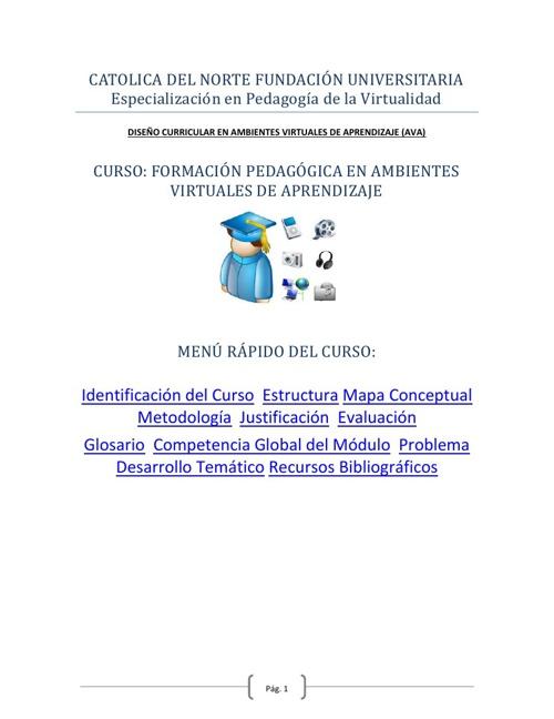 FORMACION PEDAGOGICA EN AMBIENTES VIRTUALES DE APRENDIZAJE