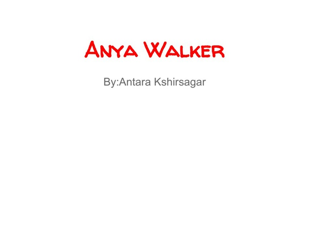 Anya Walker