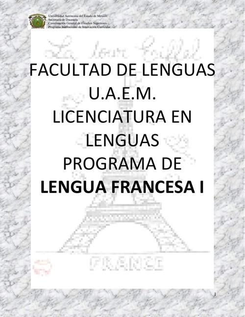Programa de Lengua Francesa 1