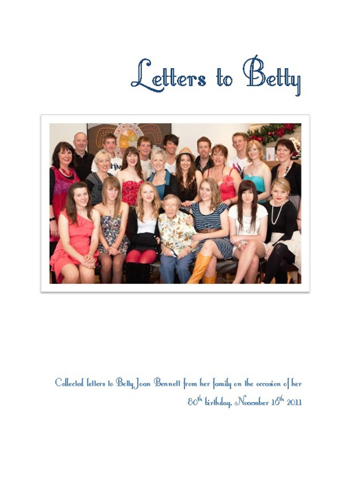 Letters to Betty