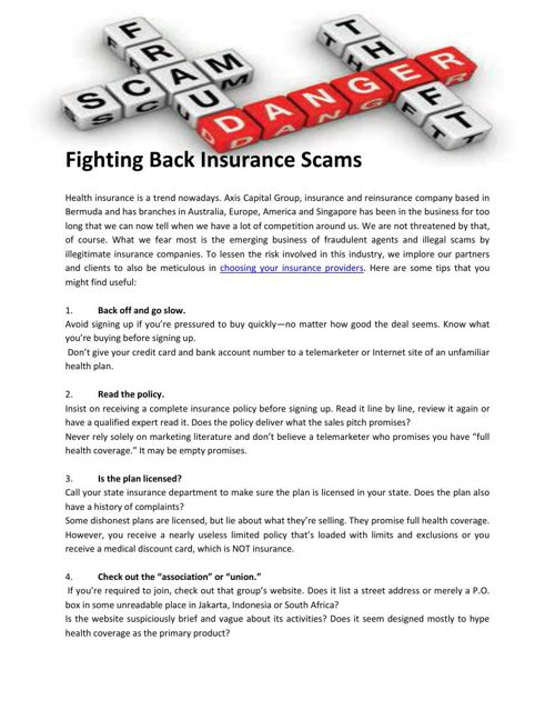 Fighting Back Insurance