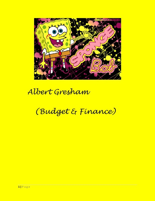 Albert Gresham Budget and Finance