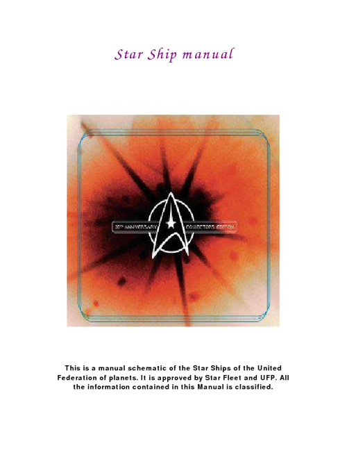 Star Trek Ship Manual