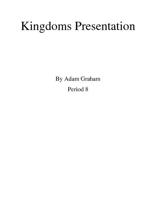 Kingdoms presentation