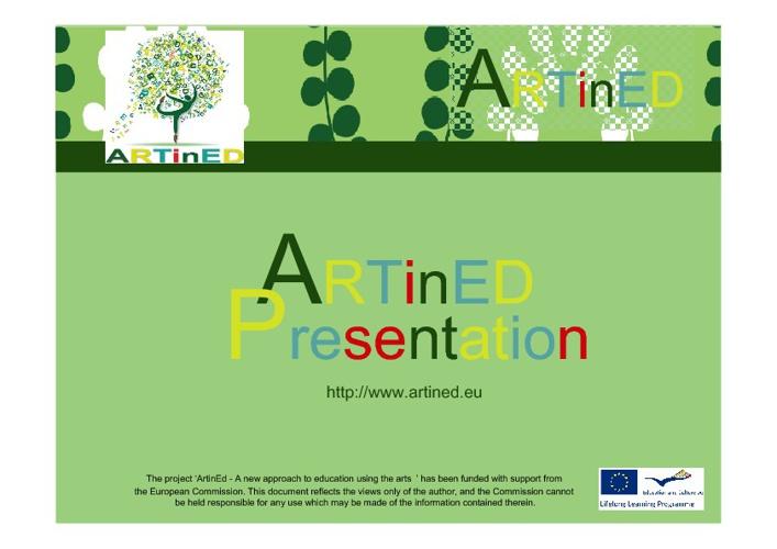 ARTinED webinar presentation