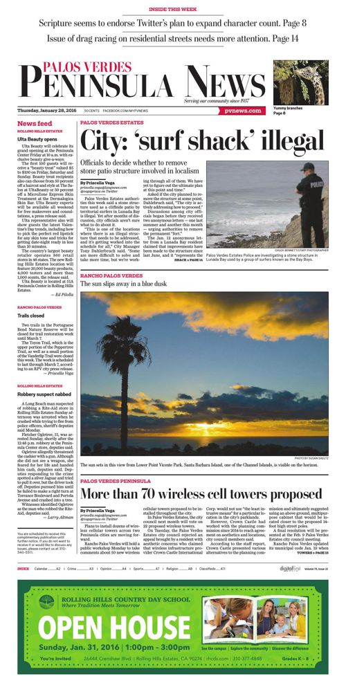 Palos Verde Peninsula News | 1-28-16