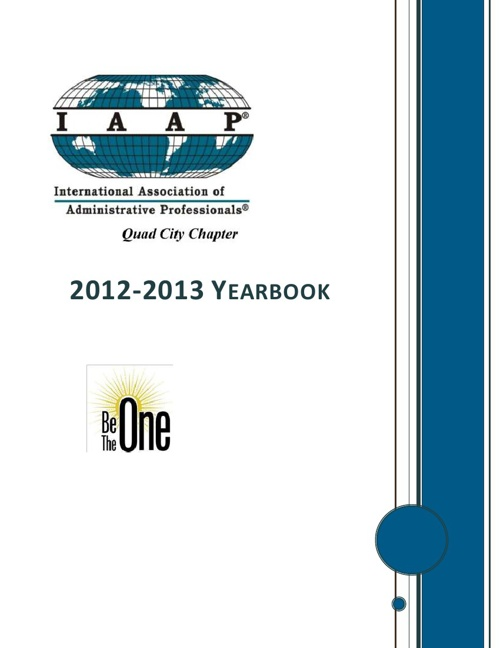 Quad City Chapter IAAP 2012-2013 Yearbook