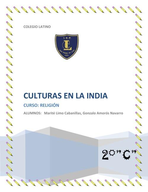 CULTURAS EN LA INDIA