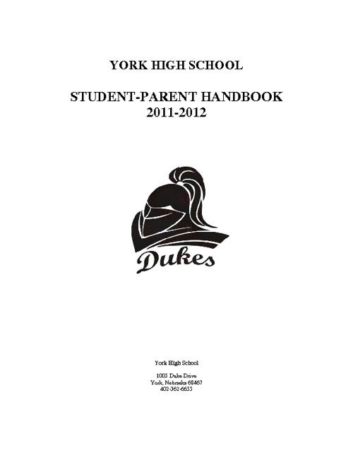 YHS Student Handbook