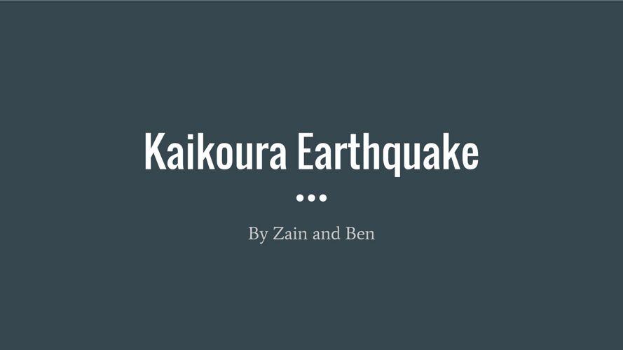 Earthquake In Kaikoura
