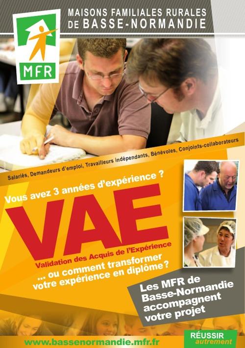 Accompagnement VAE dans les MFR de Basse-Normandie