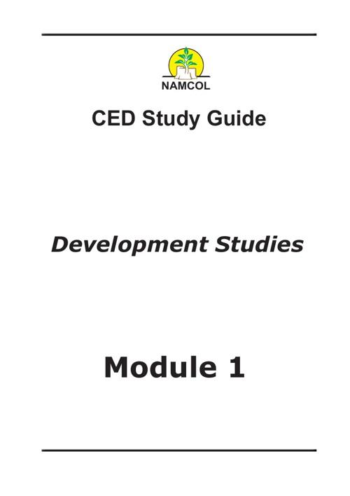 Development Studies Module 1