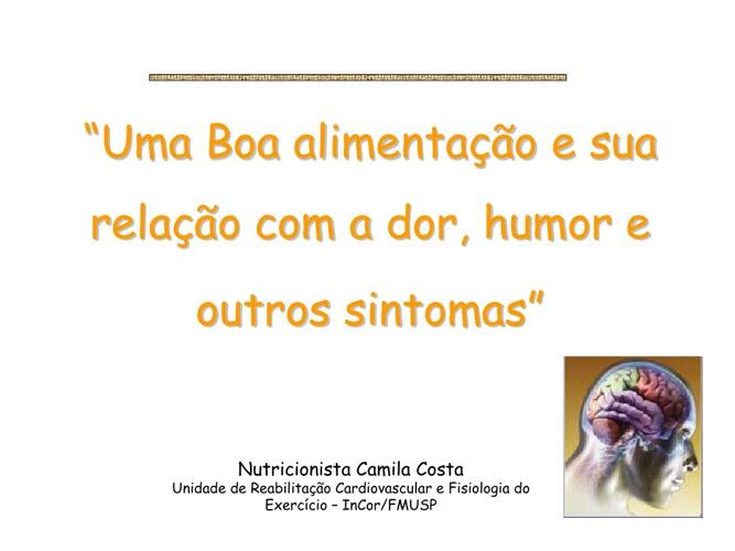 Copy of NUTRIÇÃO E FIBROMIALGIA