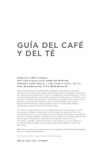 Manual de Referencia de Café & Té