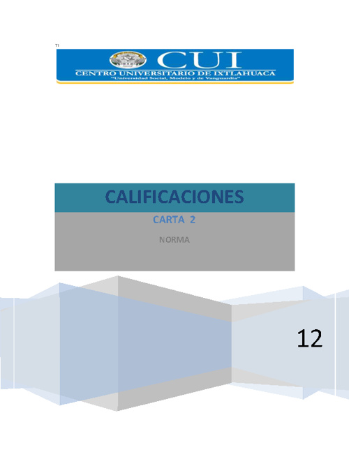2 carta calificaciones