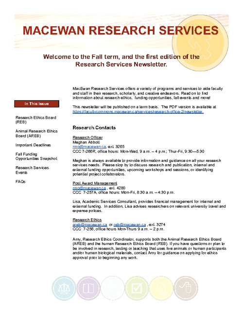 Research Services Newsletter Fall 2011/12