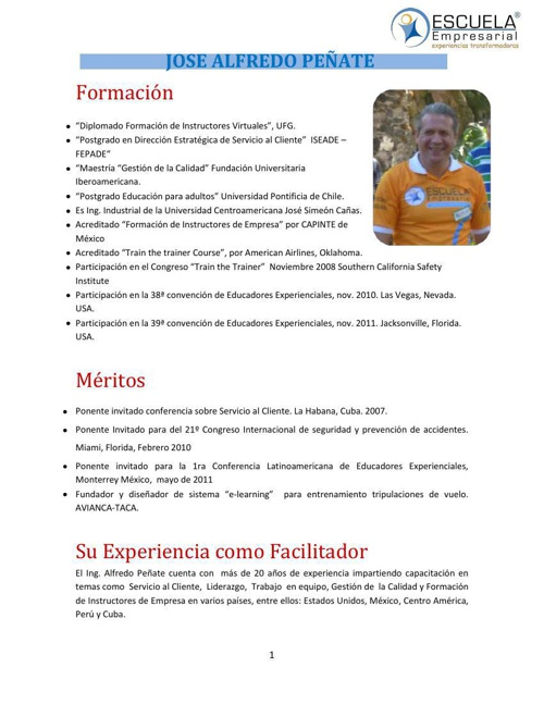 CV ALFREDO PEÑATE 2013
