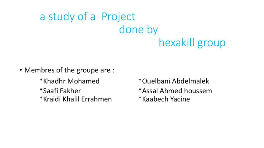 THE GOAL OF THIS PROJECT