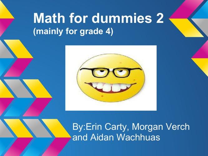 Math for Dummies 2