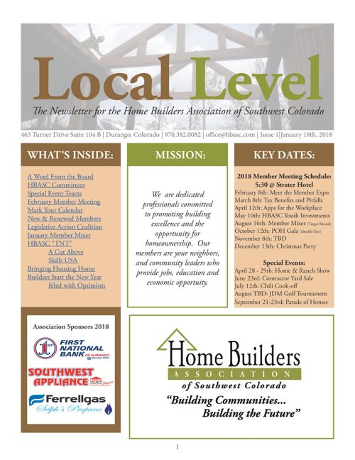 The Local Level ~ Thursday @ 3 - January 2018 Edition