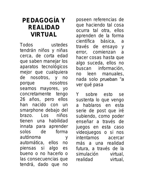 PEDAGOGÍA Y REALIDAD VIRTUAL adry 2