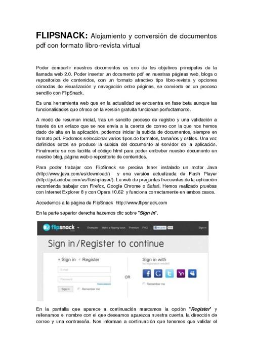 FLIPSNACK: ALOJAMIENTO Y CONVERSIÓN DE DOCUMENTOS PDF CON FORMAT