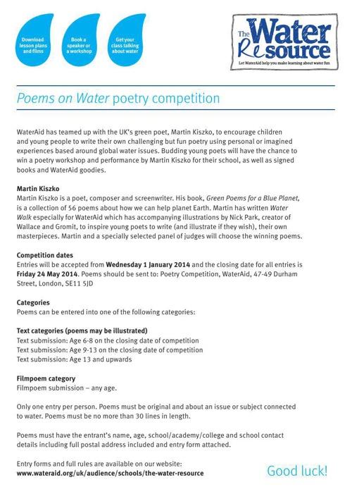 water walk poem