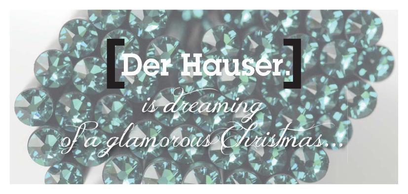 HAUSER Weihnachtsflyer 2015 / Crystals from Swarovski by HAUSER